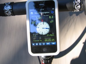 GPS on cycle