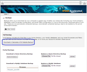 Cpanel backup download